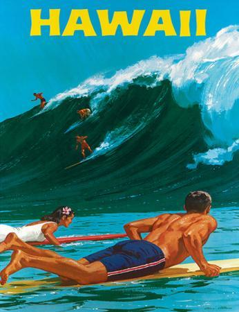 Big Wave Surfimg by Chas Allen