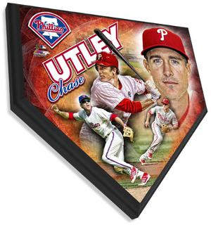 Chase Utley Home Plate Plaque