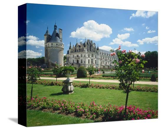 Chateau Chenonceaux, France--Stretched Canvas Print