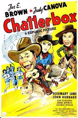 Chatterbox, US poster, Joe E. Brown, Rosemary Lane, Judy Canova, 1946