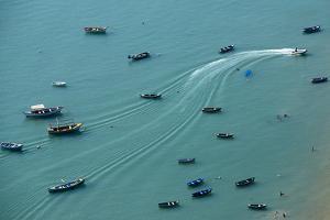 Among the Boats by Chechi Peinado