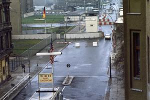 Checkpoint Charlie at Berlin Wall