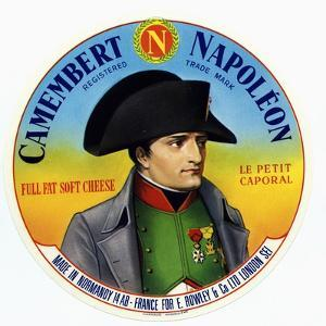 "Cheese Label ""Camembert Napoleon"", ""Le Petit Caporal"", Made in Normandy for Rowley and Co, London"