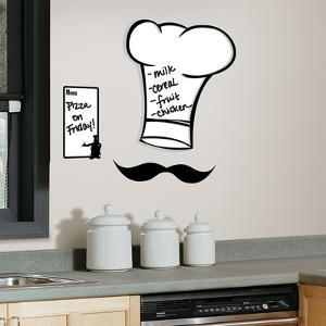 Chef's Hat Dry Erase Peel & Stick Giant Wall Decals