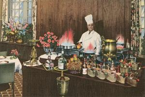 Chef with Elaborate Buffet