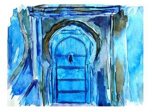 Chefchaouen Morocco Blue Door by M Bleichner