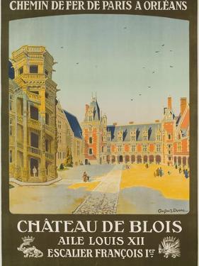 Chemin De Fer Paris to Orlean, French Railroad Travel Poster