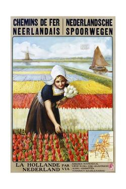 Chemins De Fer Neerlandais Travel Poster