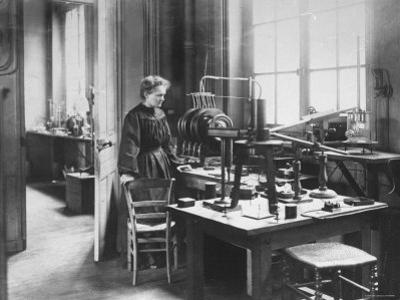 Chemist Marie Curie in Her Laboratory