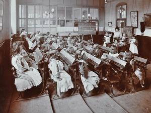 Chemistry Lesson, Albion Street Girls School, Rotherhithe, London, 1908