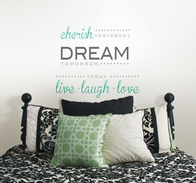 Cherish Dream Live Wall Decal Sticker Quote