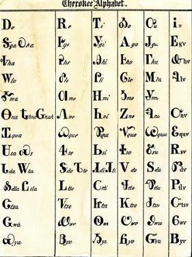 Cherokee Alphabet Developed by Sequoyah