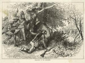 Cherokee Indians Ambush British Soldiers