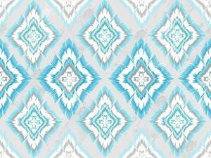 Abstract Geometric Seamless Aztec Pattern. Colorful Ikat Style Pattern by cherry blossom girl