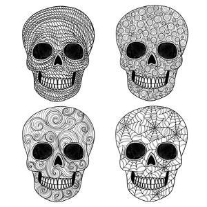 Ornament Skull Set by cherry blossom girl