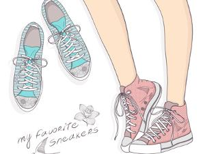 Shoes With Floral Pattern by cherry blossom girl