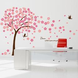 Cherry Blossom Quote Wall Decal