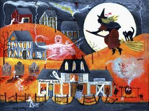 All Hallows Eve Halloween Witch and Fortuneteller by Cheryl Bartley