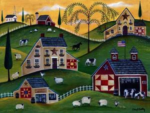 American Organic Herb Sheep Cow Farmland by Cheryl Bartley