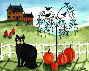 Cats Crows & Pumpkins by Cheryl Bartley