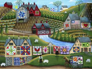 Country Harvest Folk Art Quilt Farms by Cheryl Bartley