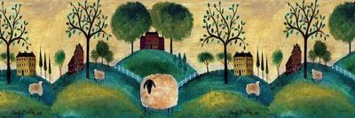 Counyrt Folk Art Sheep Farm Border