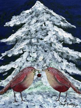 Love Birds in Snow by Cheryl Bartley
