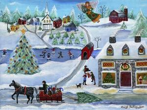 Old Stone Inn at Christmas Time by Cheryl Bartley