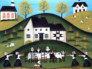 Pilgrim Thanksgiving Dinner by Cheryl Bartley