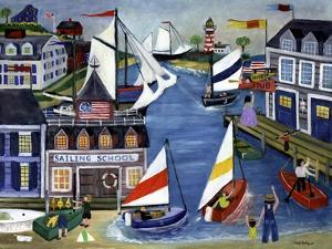 Sailing School Folk Art Cheryl Bartley by Cheryl Bartley