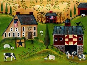 Salt Box Dairy Farm Cheryl Bartley by Cheryl Bartley