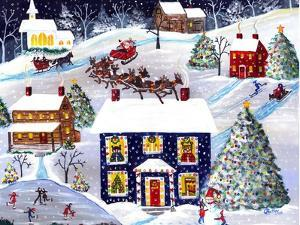 Santa Reindeer Christmas Eve Cheryl Bartley by Cheryl Bartley