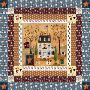 Star Bird Farm Quilt Block Cheryl Bartley by Cheryl Bartley