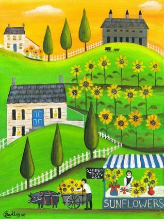 Sunflower Inspiration Farm Cheryl Bartley by Cheryl Bartley