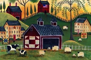 Sunrise Red Quilt Barn by Cheryl Bartley