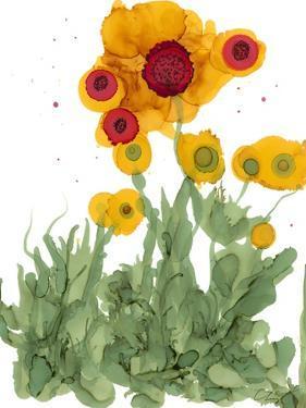 Poppy Whimsy I by Cheryl Baynes