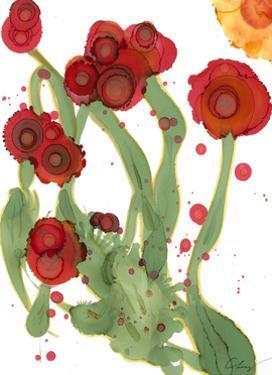 Poppy Whimsy III by Cheryl Baynes