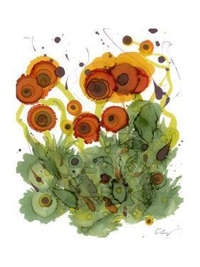Poppy Whimsy VII by Cheryl Baynes