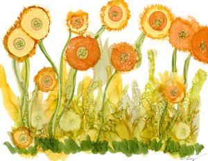 Sunlit Poppies II by Cheryl Baynes