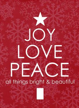Joy Love Peace by Cheryl Overton