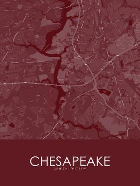 Chesapeake, United States of America Red Map
