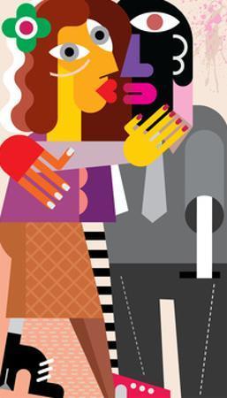 Woman Kissing a Man by chetverikov