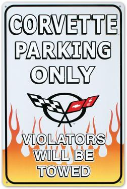 Chevrolet Chevy Corvette Parking Only