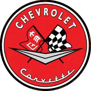 Chevrolet Corvette Tin Button Sign