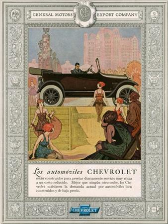 Chevrolet, Magazine Advertisement, USA, 1920