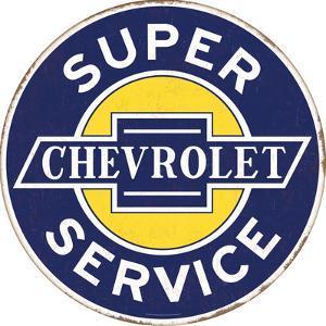 Chevrolet Tin Button Sign