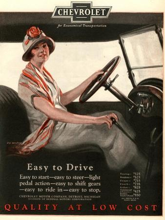 Chevrolet, Women Woman Drivers Driving Cars, USA, 1920