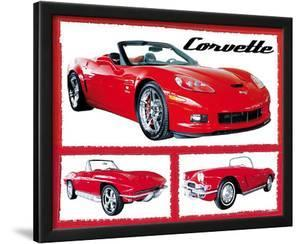 Chevy Corvettes (Fabulous) Art Poster Print