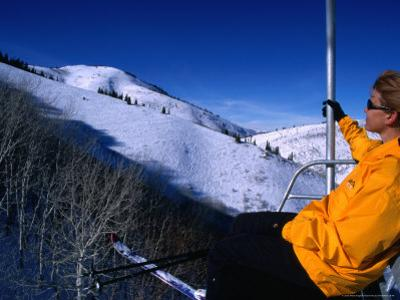 Catching the Chairlift to the Canyons in Park City, Utah, USA by Cheyenne Rouse