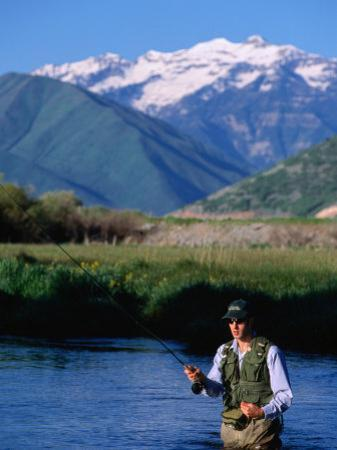 Fly-Fishing in Utah's Provo River, Provo, Utah, USA by Cheyenne Rouse